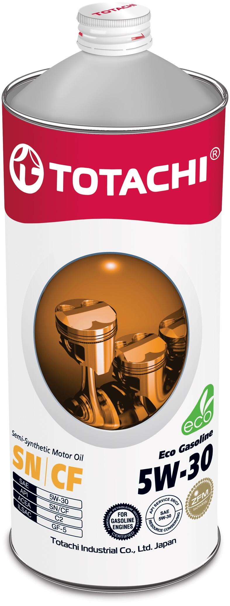 TOTACHI NIRO Eco Gasoline,5W-30, SN/CF, полусинтетика, 1л, Россия