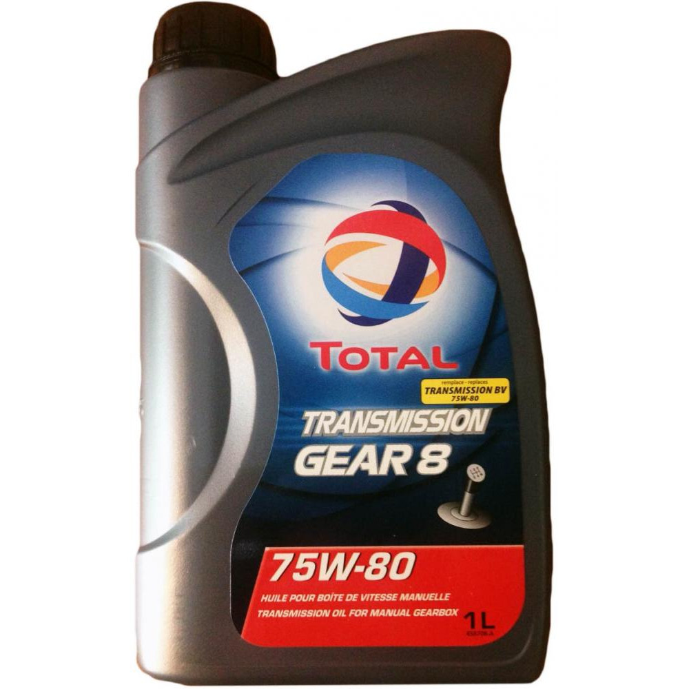 TOTAL, Trans.Gear 8, 75W80, GL-4, масло трансмиссионное, 1л, Франция