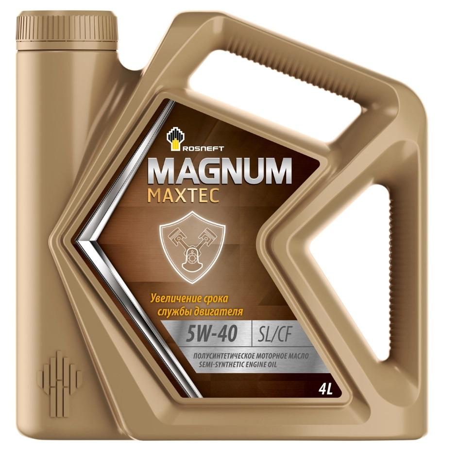 Роснефть Magnum Coldtec, 5w40 SМ/CF, синтетика, 4л, Россия