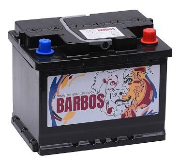 Аккумулятор BARBOS 60 а/ч L (левый)