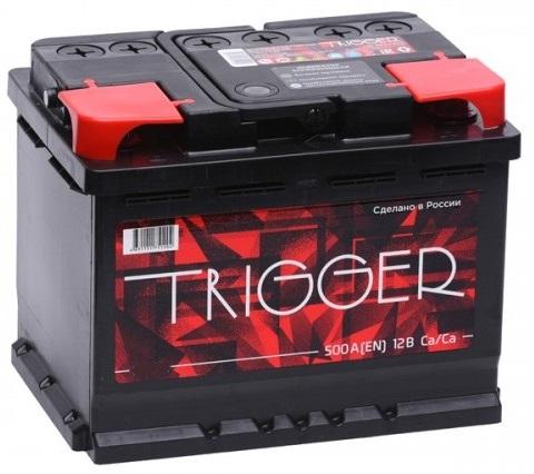 Аккумулятор TRIGGER 55 а/ч L (левый) (прямая полярность), Россия
