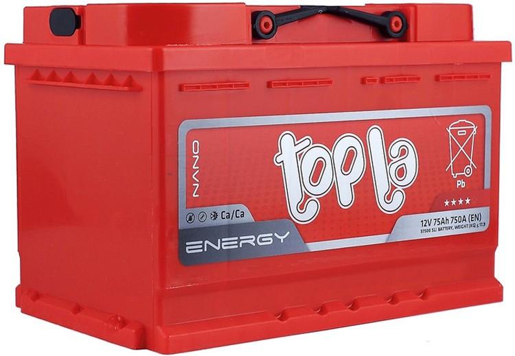 Аккумулятор «Topla» Energy 75 о (правый) обрятная полярность, Словения