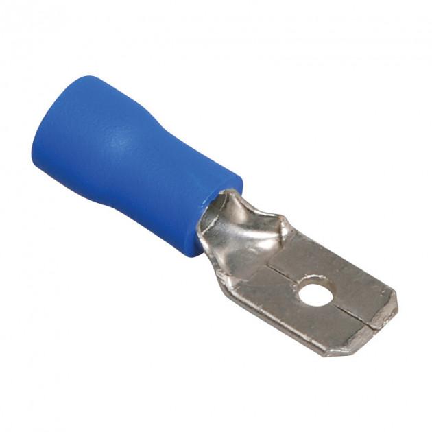 Клемма плоская штекер 6,3мм.1.5-2.5мм MDD 2-250 в изоляции (папа)