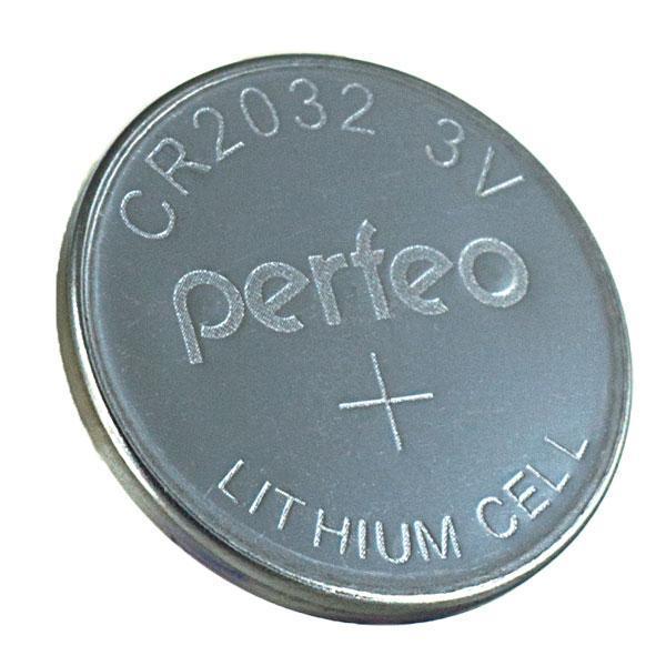 Батарейка, PERFEO 2032 СR 5V, Батарейка для сигнализ.(1шт.)