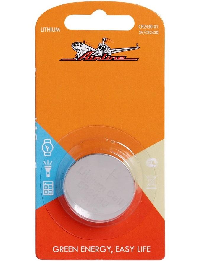 AIRLINE, Батарейка для брелоков сигнализаций, CR2430 3V, (1шт.)