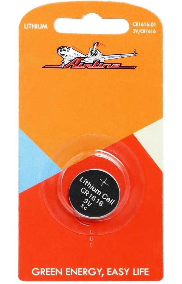 AIRLINE, Батарейка для брелоков сигнализаций, CR 1616 3V, (1шт.)
