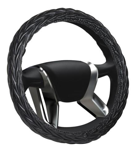 Azard, Оплетка на руль кожаная Senator «М» (d-38см) Черный, OPLS0501