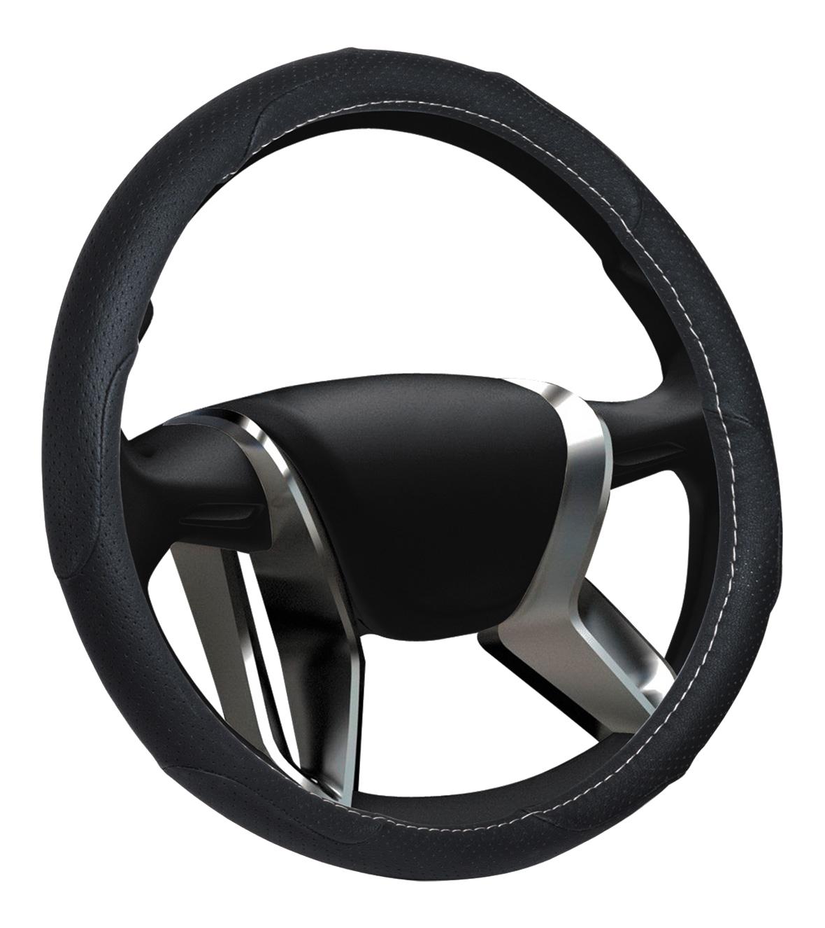 Azard, Оплетка на руль замшевая Senator Texas «М» (d-38см) Черный,  OPLS0901