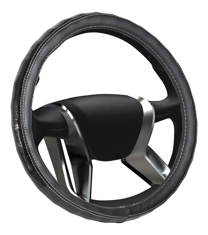 Azard, Оплетка на руль кожаная Senator Arizona «М» (d-38см) Черный,  OPLS0201