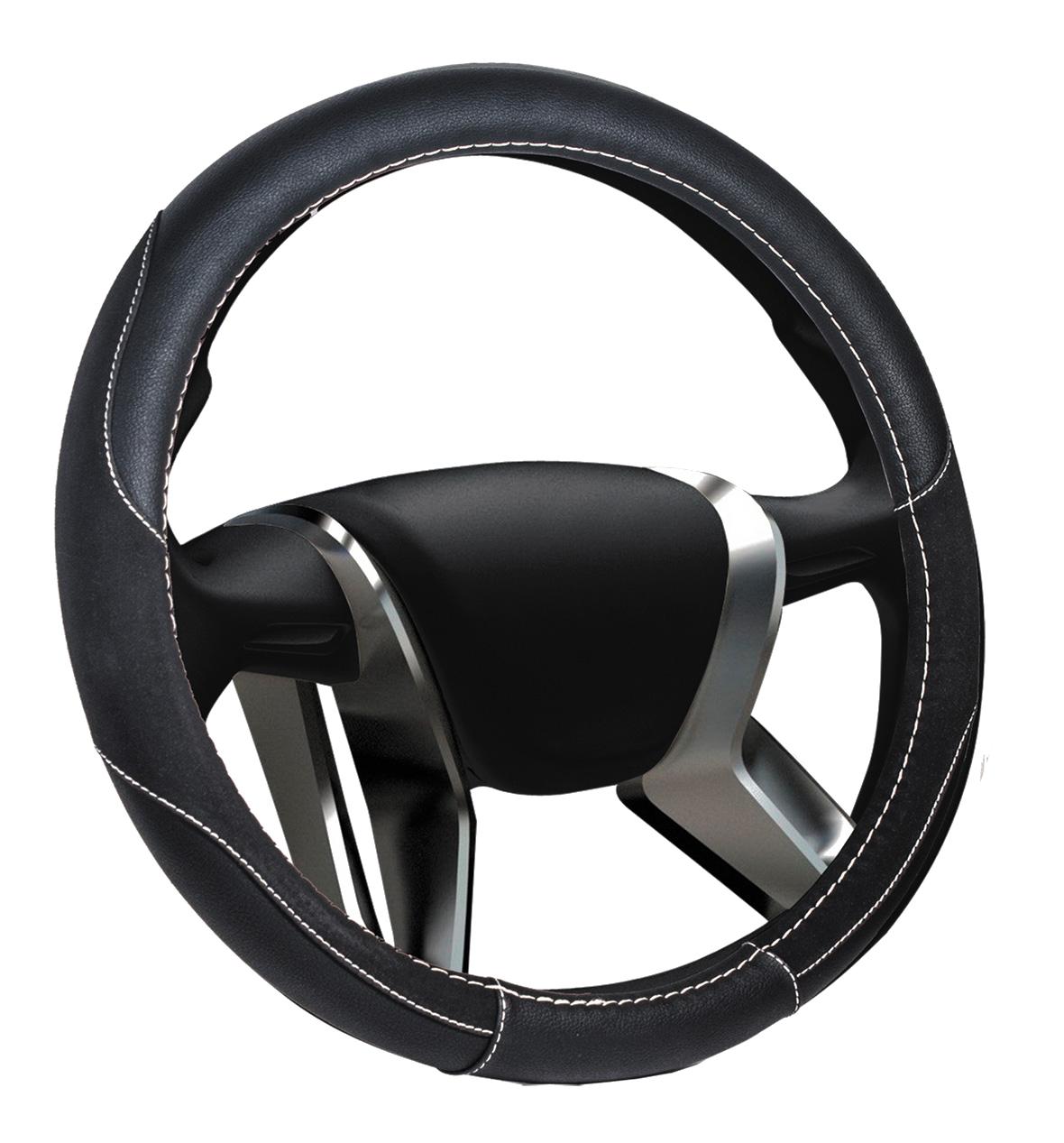 Azard, Оплетка на руль кожаная Senator Michigan «M» (d-38см) Черный,  OPLS0301
