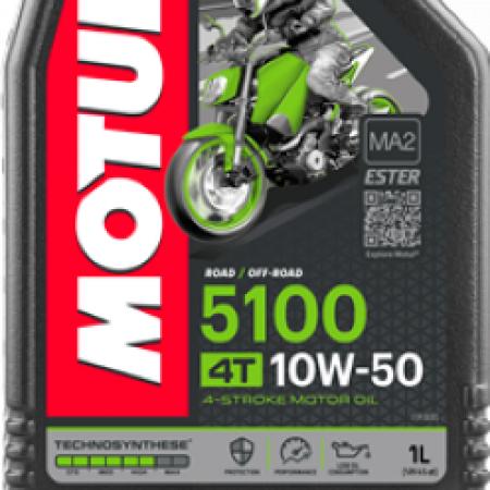 МOTUL 5100 4Т Technosynt/Ester,10W-50, для 4-хтактных,1л, Франция
