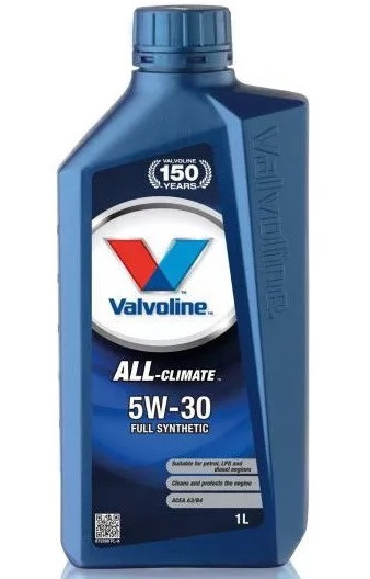 Valvoline ALL Climate, 5W30, моторное масло, синтетика,1л, Нидерланды