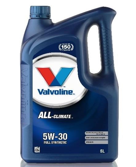 Valvoline ALL Climate, 5W30, моторное масло, синтетика,5л, Нидерланды