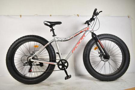Велосипед 26» Rook FA260D, серебристый/красный FA260D-SR/RD FATBAKE