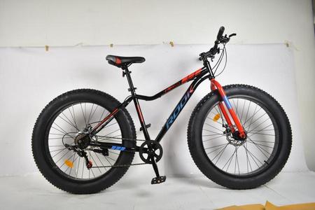 Велосипед 26» Rook FS260D, черный/красный FS260D-BK/RD FATBAKE