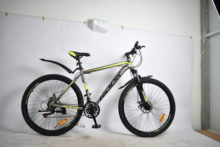 Велосипед 27.5» Rook MА270D, серый/желтый MA270D-GY/YW