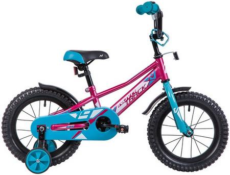 Велосипед NOVATRACK 14», VALIANT, фуксия, полн защита цепи,тормоз нож, кор крылья, нет багажн 133893