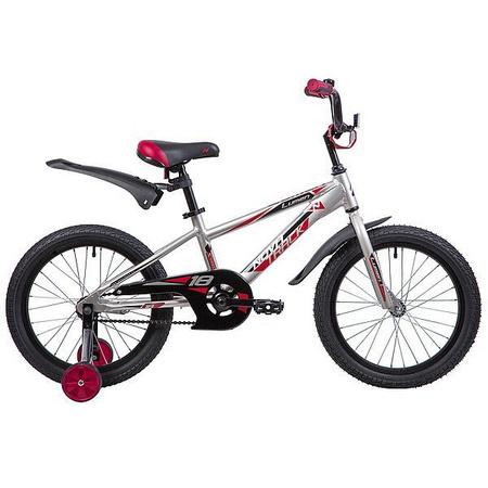 Велосипед NOVATRACK 18», LUMEN, алюм.,серебристый, тормоз нож, короткие крылья, нет багажника 134011