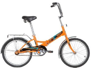 Велосипед NOVATRACK 20» складной, TG20, оранжевый, тормоз нож, двойной обод, багажник 140923