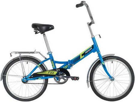 Велосипед NOVATRACK 20» складной, TG20, синий, тормоз нож , двойной обод, багажник 140919