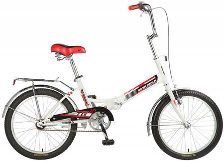 Велосипед NOVATRACK 20» складной, TG30, белый, торм 1руч и нож, двойной обод, сидение комфорт 140920