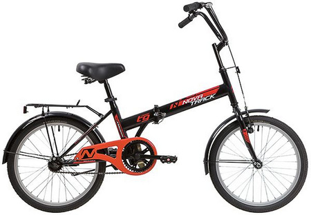 Велосипед NOVATRACK 20» складной, TG30, черный, тормоз нож, двойной обод, сидение комфорт 140921