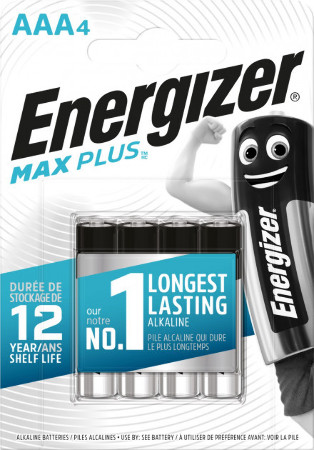 Energizer Maximum Plus AAA (мизинчиковая), блистер 4шт, Сингапур